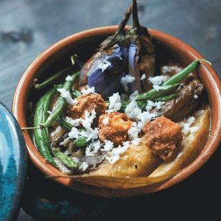 Traditional dudh shukto recipe