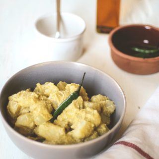 Alu posto a Bengali vegetarian dish
