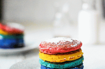 The best rainbow pancake recipe